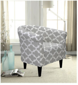 Classic Barrel Tub Accent Chair Contemporary Leisure Modern Lounge Furniture Arm