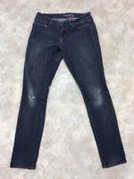 Denizen by Levi's Women's Blue Solid Dark Wash Modern Skinny Jeans Sz 8L