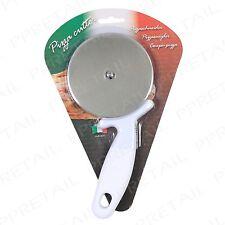 LARGE White Pizza Wheel Cutter EASY HOLD HANDLE Kitchen Utensil Slicer Divider