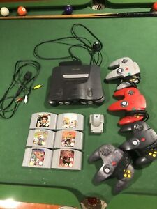 nintendo 64 console with games etc