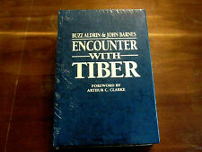 BUZZ ALDRIN APOLLO 11 ASTRONAUT SIGNED AUTO ENCOUNTER WITH TIBER LEATHER BOOK