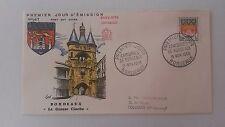 FRANCE PREMIER JOUR FDC YVERT 1183 ARMOIRIE BORDEAUX 1F BORDEAUX 1958