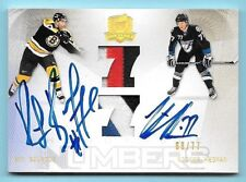 09/10 UD The Cup Ray Bourque & Victor Hedman Dual Patch On Card Autograph #68/77