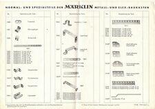 Brochure Märklin 1967 normal & spezialteile Metall & Elex Baukasten      D    aa