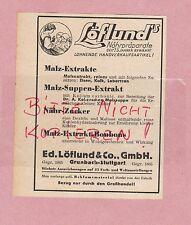 Grundbach-stuttgart, publicité 1942, Ed. löflund & Co. GmbH löflund nährpräparate
