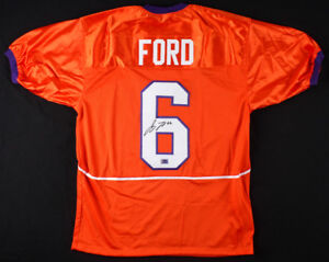 Jacoby Ford Signed Clemson Tigers Jersey (Palm Beach COA) Raiders Wide Receiver