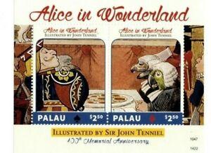 Palau - 2014 - Sir John Tenniel 100 Memorial Anniversary -Souvenir Sheet-MNH