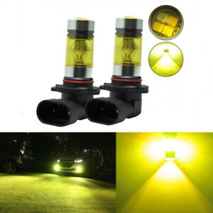 2x Fog Lights For FORD Mustang GT 2005-2012 H10 9145 100W Yellow LED Lamps