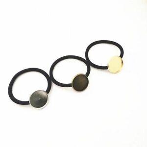 10pcs/lot Cabochon Band Setting Holders 20/25mm Elastic Band Ropes Jewelry Makin