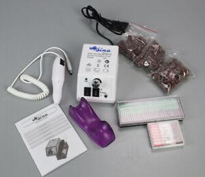 Sina Elektrische Nagelfeile weiß + Bits Nagelfräser Maniküre Pediküre PS3-S1