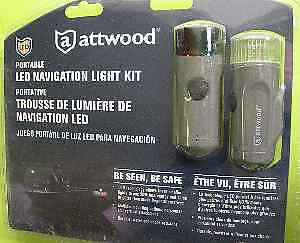 Attwood 14180-7 LED Bow Stern Light Kit AAA Cell Battery Power 15177