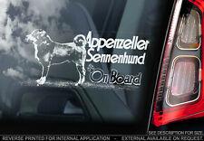 Appenzeller Sennenhund Car Sticker, Window Decal Bumper Sign Dog Pet Gift - V01