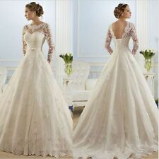 New white/ivory Lace Wedding Dress Bridal Gown Custom Size: 4 6 8 10 12 14 16 18