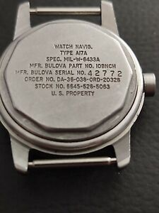 Bulova Military Issue A17A  New Old Stock Wrist Watch Case Part No. 10BNCH Super