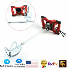 1500W Handheld Electric Concrete Cement Mixer Mixing Mortars 2 Speed Usa Stock