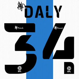 2020 2021 OFFICIAL HUDDERSFIELD TOWN HOME NAME SET DALY 34 = PLAYER SIZE