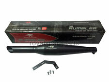 Royal Enfield Classic 500cc Red Rooster SS Exhaust Silencer Black