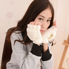 Good Gift For Lover Ladies Hand Wrist Warmer Winter Fingerless Gloves