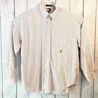 Vintage Men's Tommy Hilfiger Long Sleeve Plaid Button Down Size XL