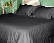 1000 TC EGYPTIAN COTTON BEDDING COLLECTION IN ALL SETS & STRIPE ELEPHANT GREY