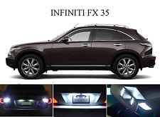 White LED Package - License Plate + Vanity + Reverse for Infiniti FX 35 (8 Pcs)