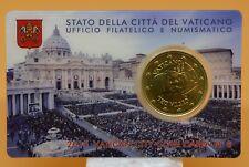 VATICAN : coincard 2015 50 cent n°6. NEUF