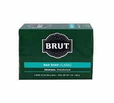 BRUT REVOLUTION FABERGE 2 PC BODY AND FACE SOAP BARS 3.5X2  OZ  (M)