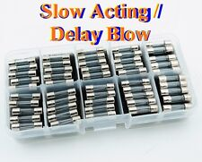 50, Kit of Glass Fuses 5x20mm 5T VDE UL T250mA ~ T6.3A SLOW DELAY BLOW