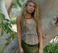 Tribal Halter Top, Boho Summer Gypsy Pixie Fairy Hippie Goa Rave Bohemian Faerie