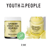 YOUTH TO THE PEOPLE Superberry Hydrate + Glow Dream Mask, 100% Authentic (2 oz)