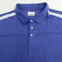 Grand Slam Golf Polo Shirt Men's Size 3XB Short Sleeve Blue White Trim AirFlow
