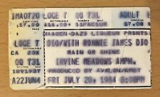 1984 RONNIE JAMES DIO WHITESNAKE IRVINE CONCERT TICKET STUB LAST IN LINE TOUR
