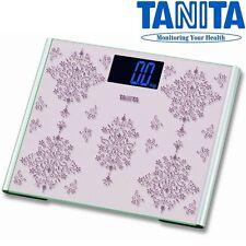 TANITA grande piattaforma in vetro digitale 200Kg 440lb Bagno Corpo Pesatura scala 410