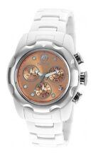 New Womens Invicta 20066 Mobula Chronograph Copper Dial Ceramic Bracelet Watch