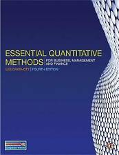 Essential Quantitative Methods: For Business, Management and Finance, Les Oaksho