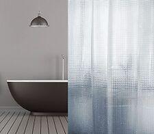 Peva Rideau de douche 3D TRANSPARENT mosaïque 120x180 - 120x200 - 180x180 -