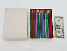 Box Vintage Pencils - I'm A Bug - Red Green Lavender Blue Ladybug Box of 128
