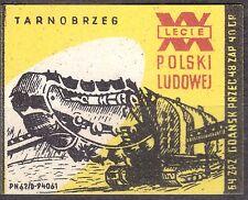 POLAND 1964 Matchbox Label - Cat.Z#537IV, XXth PL - Sulfur mines, Tarnobrzeg.