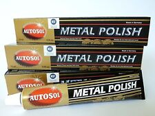 (5,11 €/100 ML) 3 x 75 ML AUTOSOL ® CHROME vernis metal polish Chrome Nettoyant