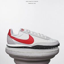 Nike Waffle Racer señores Lifestyle cortos zapatos blanco rojo cn8116-100