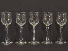 5 Weingläser antik Römer 0,1 geschliffener Stiel, schöne Form Sherryglas