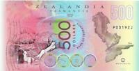 2018 ZEALANDIA 500 Dollars 🌎 Polymer; Exotic Lady; FISH 🐟🌎 Hidden Continent