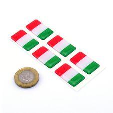 Italy Flag Domed Gel Stickers Car Vinyl Helmet Universal Decal 25mm x6