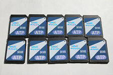 10pcs 64MB ATP MMC Multimedia Memory Card for PALM PDA Older MMC sd cameras