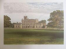 c.1880 Print of Locko Park, near Spondon, Derbyshire