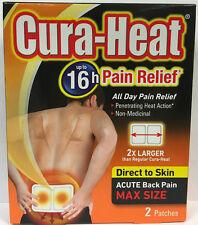 Cura-Calore Dolore Sollievo diretto per la pelle acuti dolori alla schiena MAX Size - 2 Patch