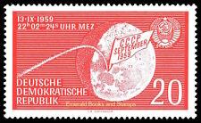 EBS East Germany DDR 1959 Soviet Lunik 2 Moon Landing Michel 721 MNH**