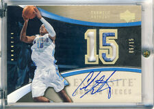 05 UD Exquisite Number Pieces Carmelo Anthony Auto Patch #06/15 RARE
