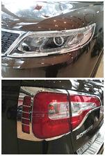 For KIA Sorento 2013 -2014 ABS Chrome Head Light and Tail Light Lamp Cover Trim