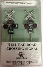 Tomar Industries H-862 HO Railroad Crossing Signals (2) LED's H862 modelrrsupply